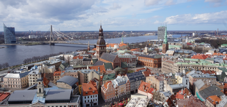 Aussicht auf das schöne Riga