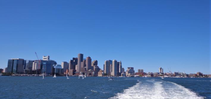 Blick auf Boston