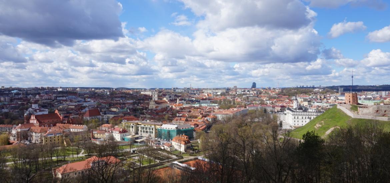 Ausblick auf Vilnius, Litauen