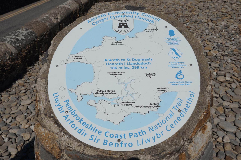 Karte Pembrokeshire Coast Path