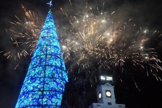 Feuerwerk am Puerta del Sol