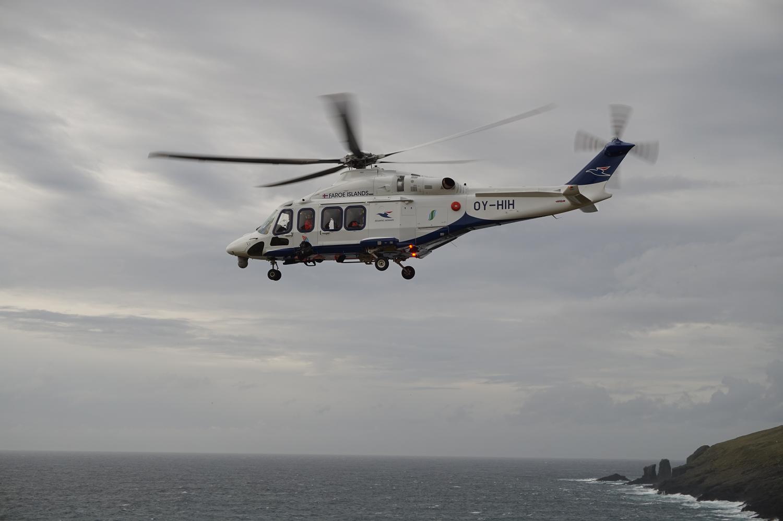 Hubschrauber von Atlantic Airways