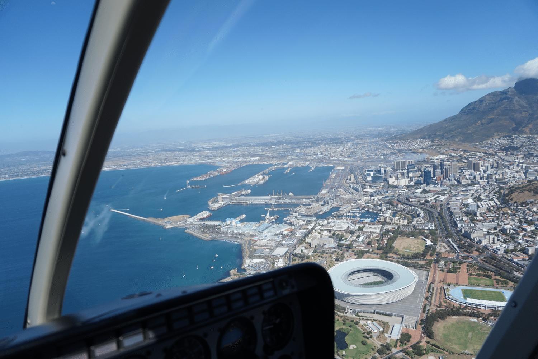 Aussicht aus dem Hubschrauber