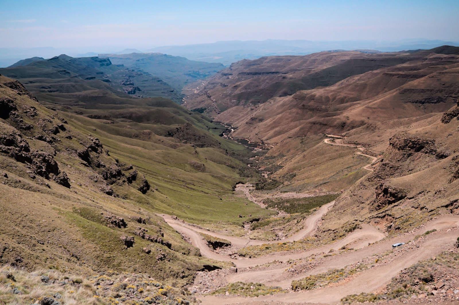 Blick über den Sani Pass