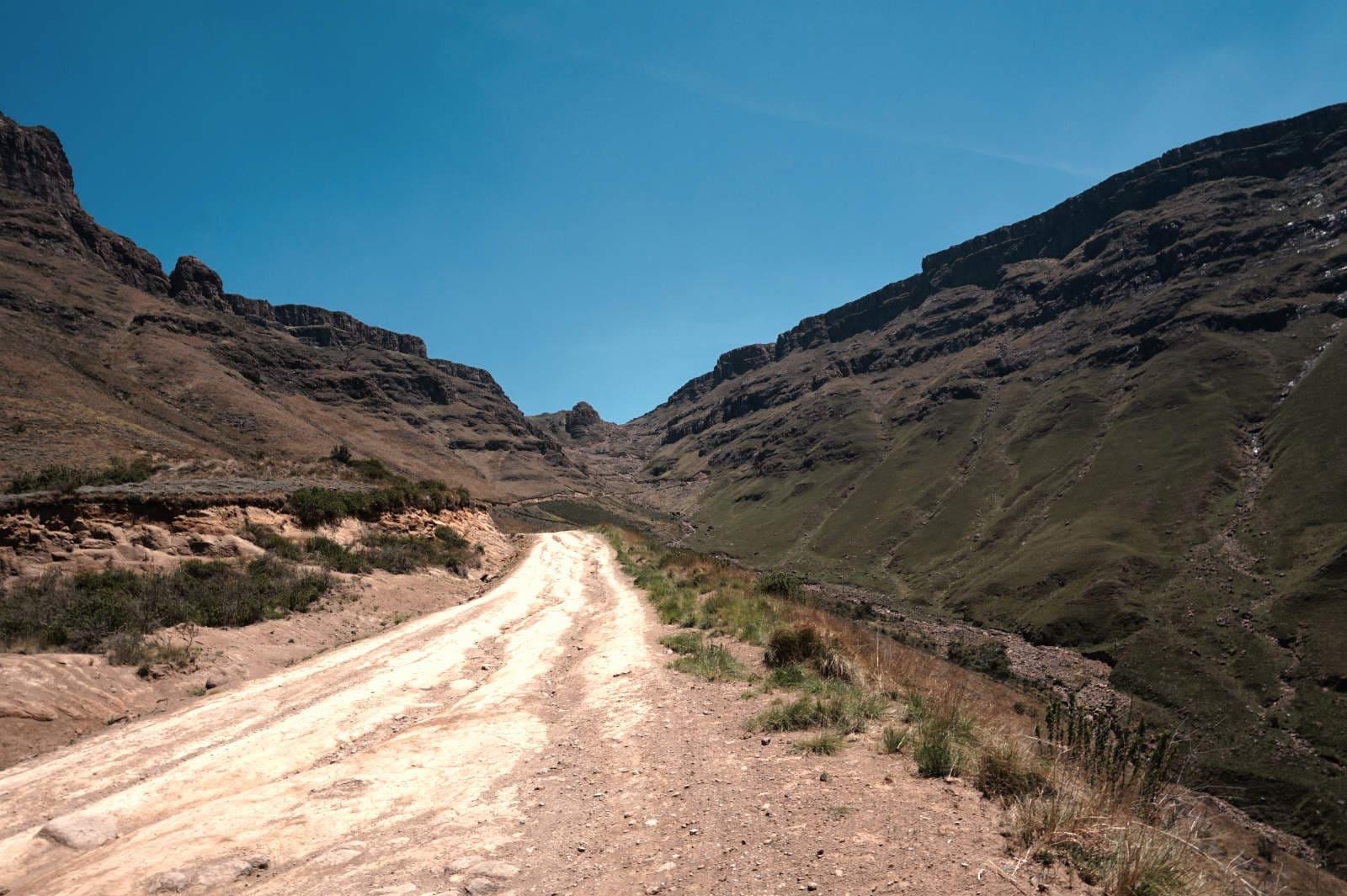 Unterwegs nach Lesotho auf dem Sani Pass
