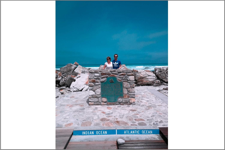 Fotopunkt am Kap Agulhas