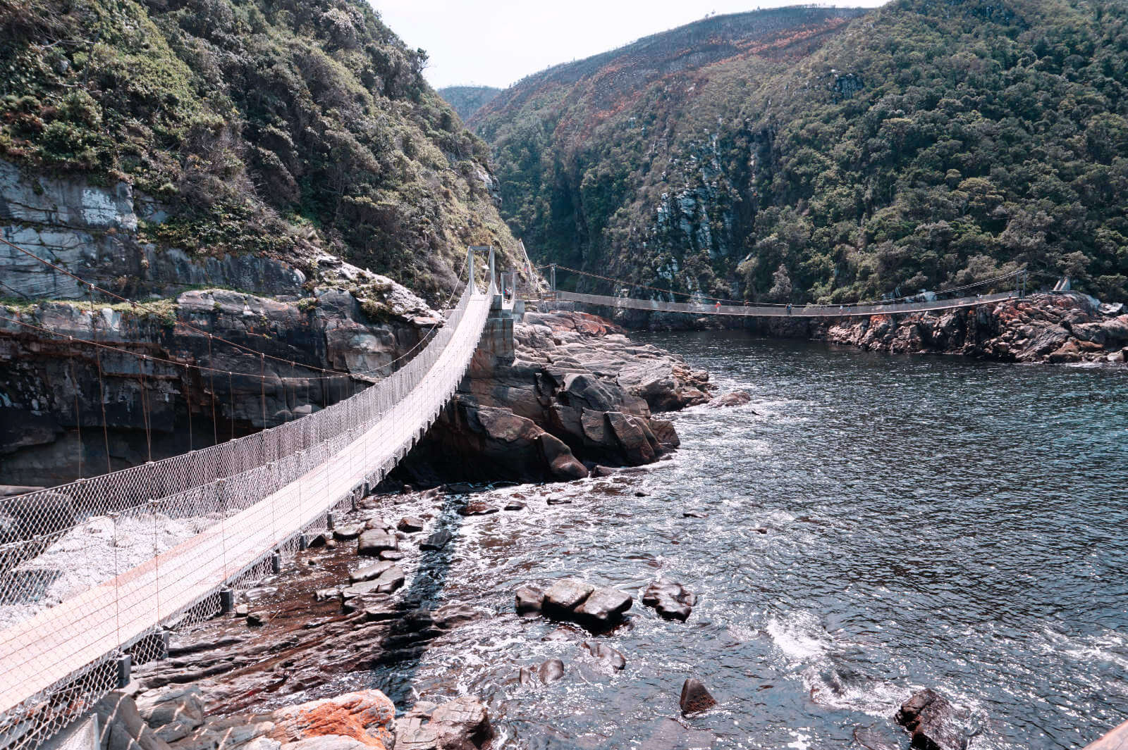 Die Hängebrücken am Storms River Mouth