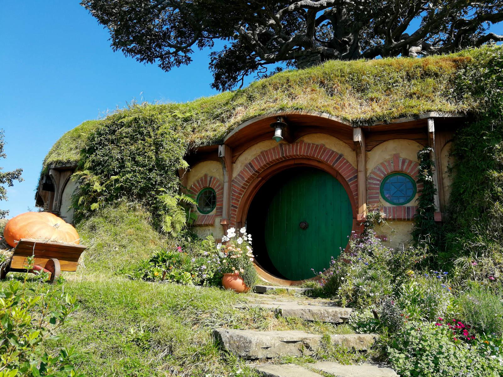 Hobbithöhle im Hobbiton Movie Set