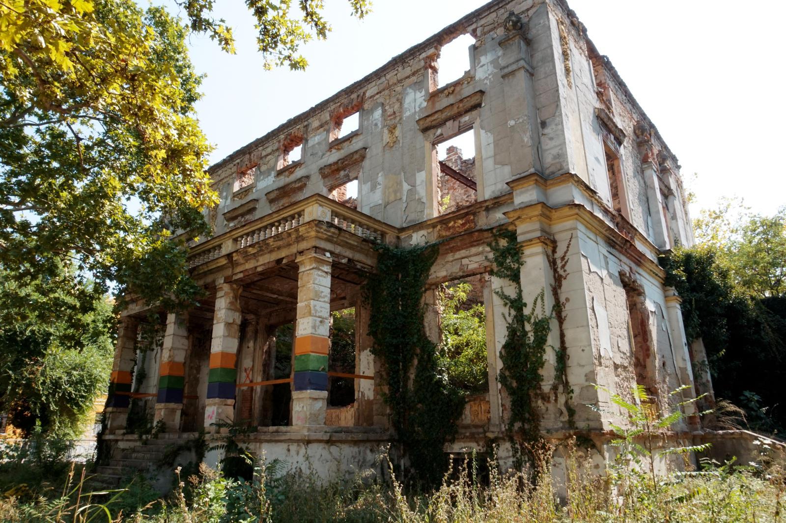 zerbombte Villa in Mostar
