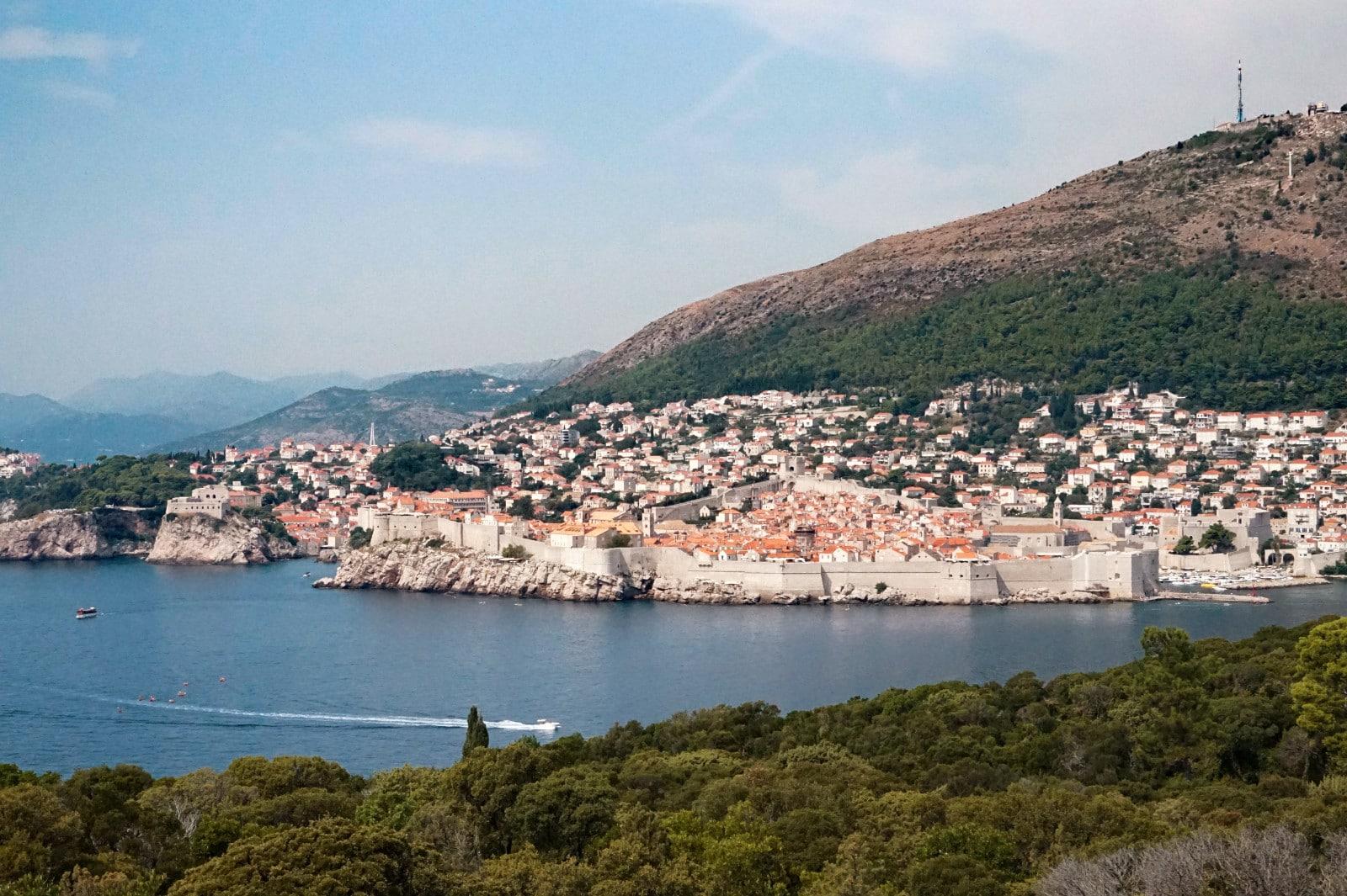 Ausblick von der Insel Lokrum
