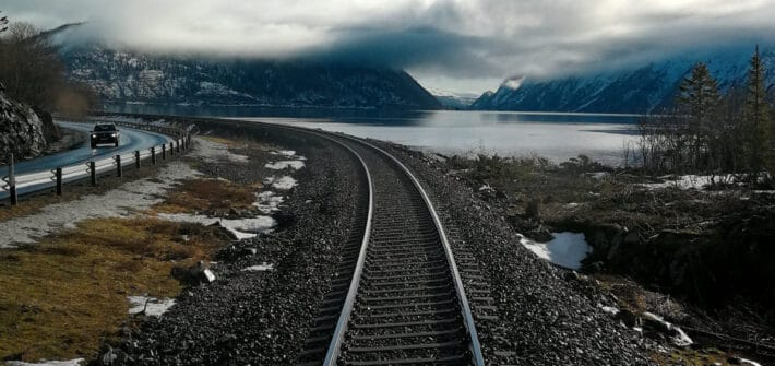 Zugstrecke in Norwegen