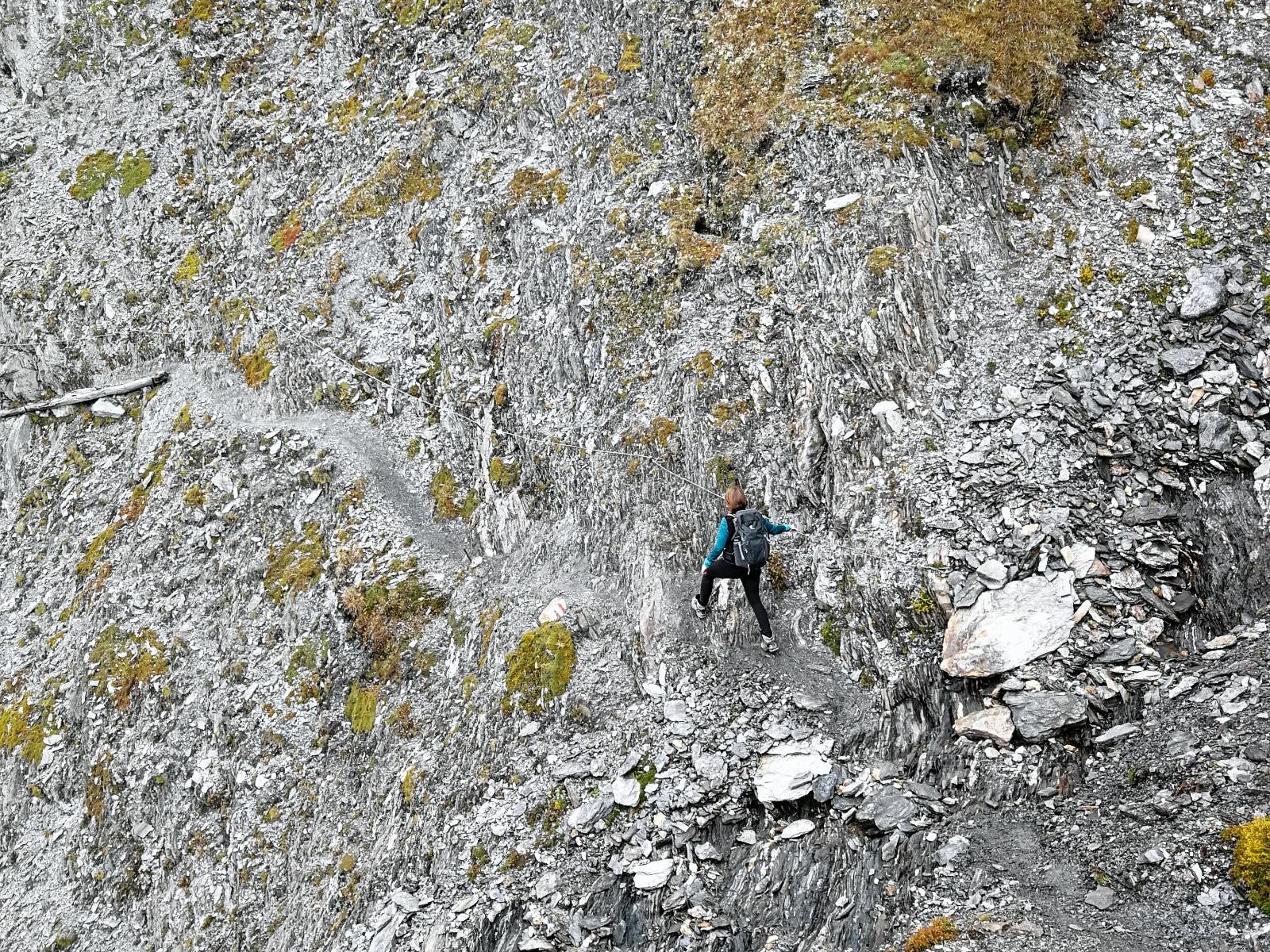 Abenteuerliche Wegführung auf dem Weg zur Lucknerhütte